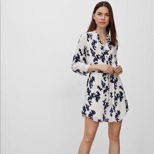 Aritzia Babaton Bennett Silk Floral Dress